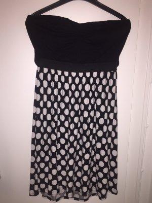 Tally Weijl Off-The-Shoulder Dress white-black