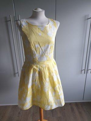 Charles Vögele Sukienka z krótkim rękawem biały-bladożółty
