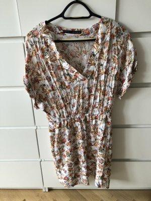süsses Sommerkleid von Zara S - creme/ bunt