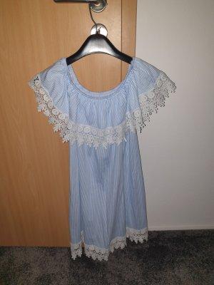 Beach Dress white-azure