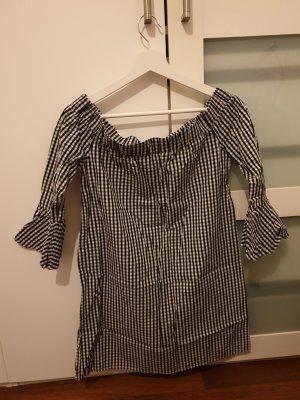Amisu Mini-jurk wit-zwart