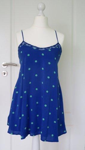 Hollister Pinafore dress blue-green viscose