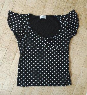 Alba Moda Camiseta negro-blanco Viscosa