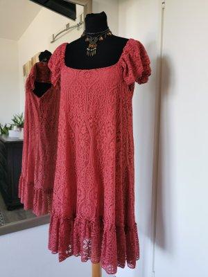 Süßes Spitzenkleid Sommerkleid Rostrot Gr. M/L