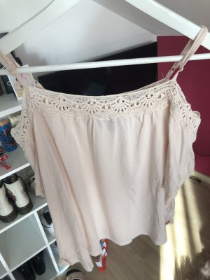 New Look Off the shoulder top stoffig roze