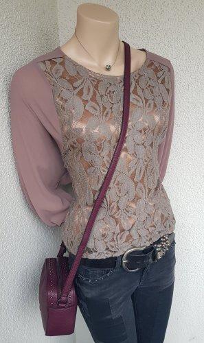 Camicia a tunica bronzo-marrone