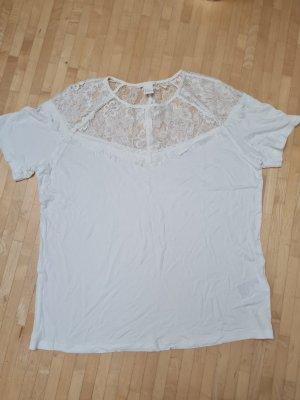 H&M Koszulka oversize biały