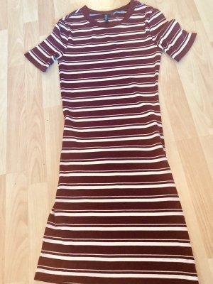 süßes Streifen Kleid casual eng anliegend Etuikleid