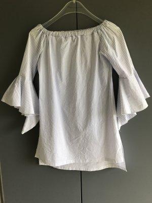 Beach Dress white-azure polyester