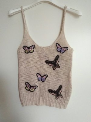 süßes Stricktop mit Schmetterlingen