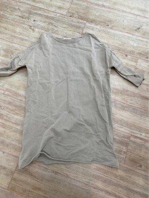 Pull & Bear Vestido de tela de sudadera verde grisáceo