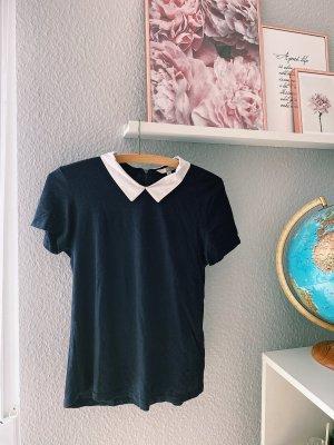 C&A T-Shirt dark blue-white