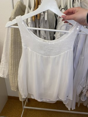 Abercrombie & Fitch Peplum Top white