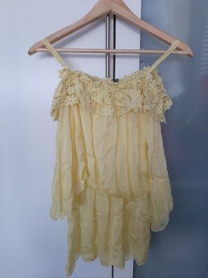 Altamira Milano Débardeur à bretelles jaune clair-jaune
