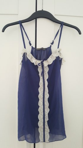 Frill Top white-blue