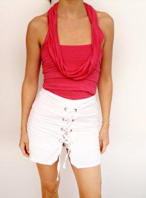 süßes Top mit Wasserfall in rosa, Größe XS