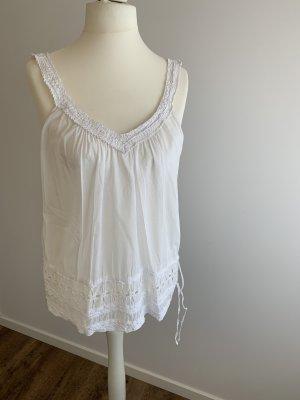 Benetton Crochet Top white