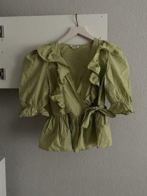 Monki Ruche blouse lichtgroen