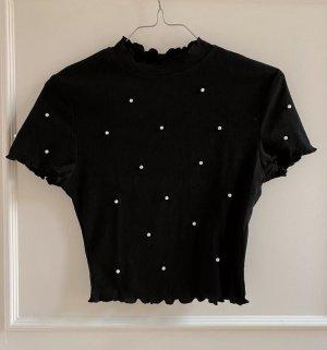 Zara Camicia cropped nero-bianco