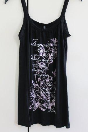 Amisu Top basic nero-rosa