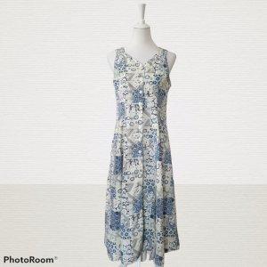 Süßes True Vintage Maxi Sommerkleid mit Blumenmuster 60er 70er 80er
