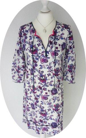 Süßes Tunika-Kleid von Tommy Hilfiger mit Trompetenärmeln, aus Seide und Baumwolle
