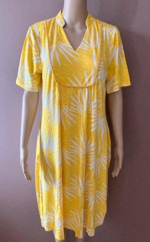 Süßes Viskose Sommerkleid Kleid gelb 40 42 L XL Palme Palmen Druck neu süßes leichtes Sommerkleid Gr. 40 Achselbreite ca. 55 cm Länge ca. 98 cm nala Viskose