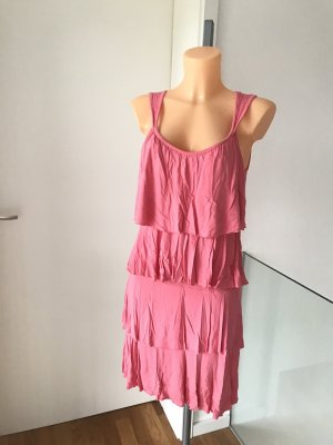 Buffalo London Flounce Dress pink viscose