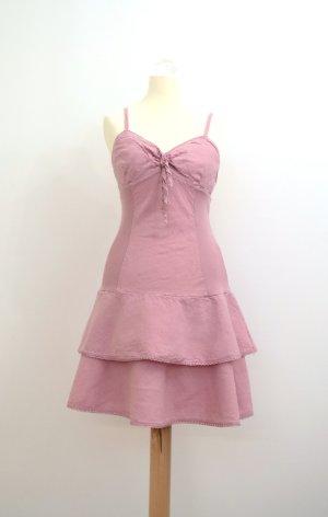 Vestido estilo flounce rosa