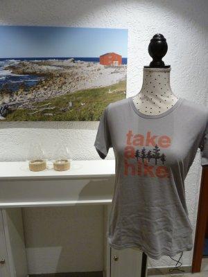 Columbia T-shirt grigio chiaro-salmone Cotone