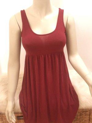 Süßes weinrotes Shirtkleid Minikleid für den Sommer Gr. S
