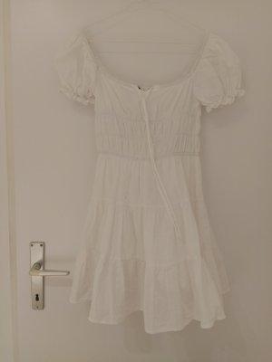 Süßes weißes Kleid Rüschchen Ruffles