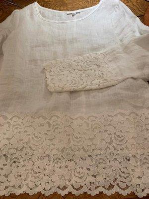 Süßes weißes Leinenoberteil von Renette Kurras Gr. 36 wie neu