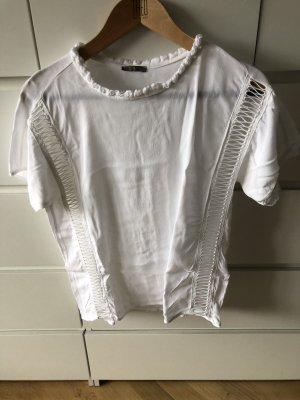 Süßes Weißes Shirt mit tollen Details