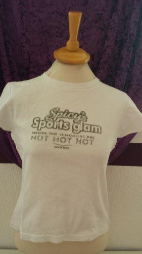 süßes weißes Shirt von Venice Beach, Gr. S/M