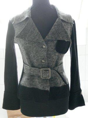 Blazer en laine noir-gris laine