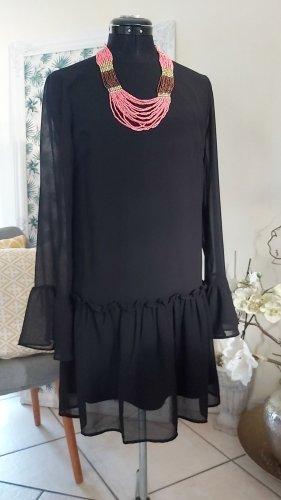 Pieces Vestido estilo flounce negro