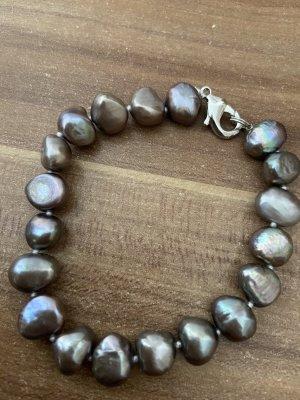Bracelet argenté-mauve