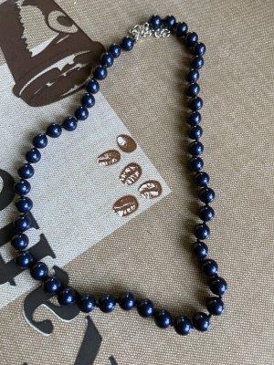 Parelketting donkerblauw
