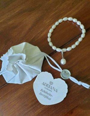 Adriana la mia perla Bracciale di perle bianco-bianco sporco