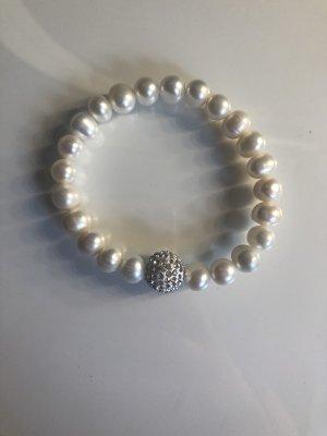 Bransoletki z perłami biały-w kolorze białej wełny