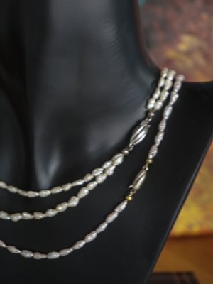 Süsswasser Perlenkette 1+ 2-Reihig