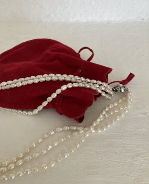 Silver Pearl Necklace silver-colored-natural white