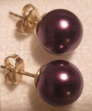 Pearl Earring brown violet