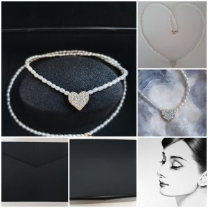 Juwelier Parelketting wit-goud