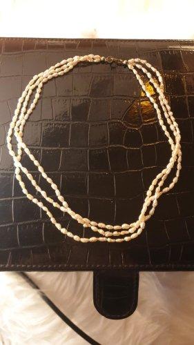 Perlen Kette Parelketting licht beige