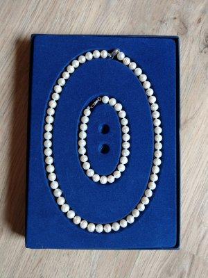 valdora Bracelet en perles blanc