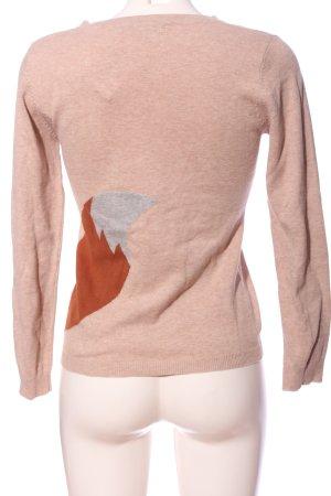 Sugarhill boutique Maglione girocollo color carne-arancione chiaro Stampa a tema