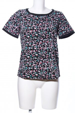 Sugarhill boutique T-Shirt schwarz-pink abstraktes Muster Casual-Look