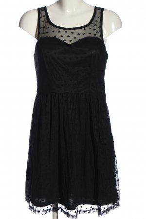 Sugarhill boutique Trägerkleid schwarz Punktemuster extravaganter Stil